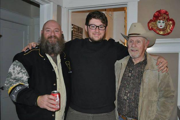 Three generations of beards? Impressive.