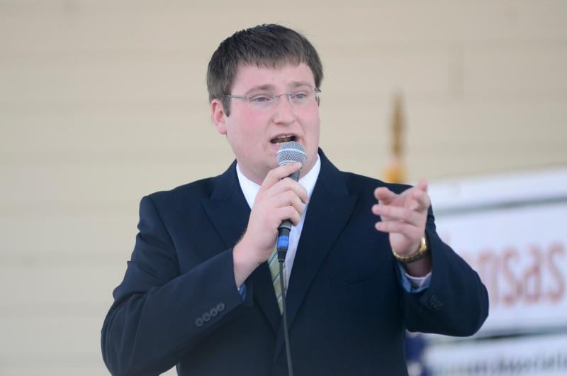 Justin Schultis is the current Kansas Auctioneer Champion.