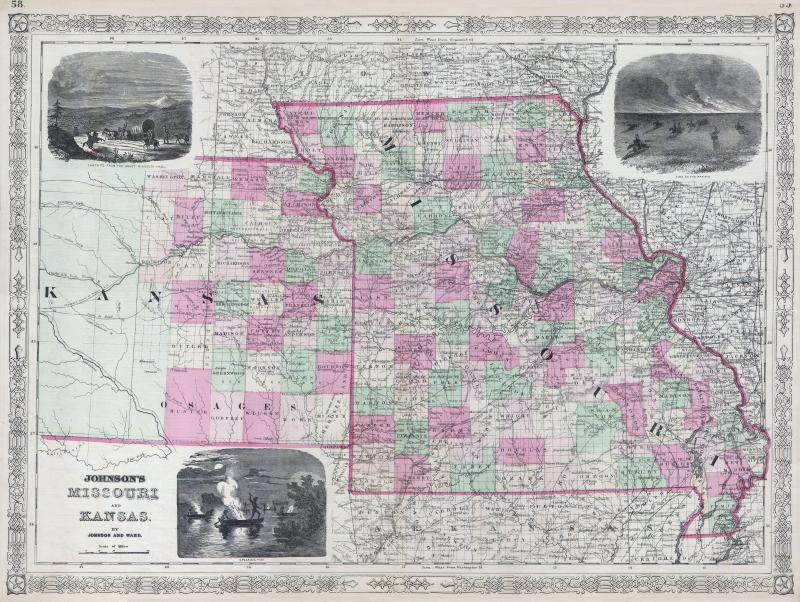 When It Comes To Kansas Citys State Line Its Complicated KCUR - Missouri state map with cities