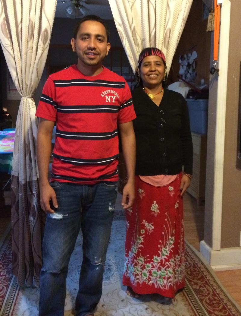Acculturating was a challenge for Jenga Chhetri (left) and his mother, Ratna Chhetri.