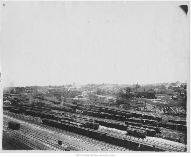 The railyards in Kansas City, Mo., as seen from the site of Union Station in 1910, provided job opportunities for some of the earliest Mexican immigrants to the Kansas City area.