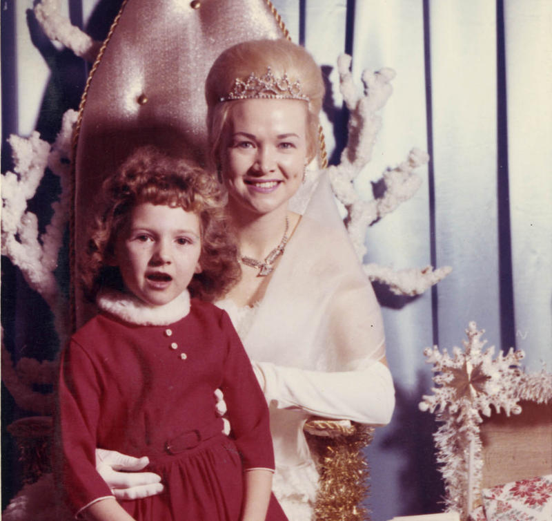 Kansas City resident Denise Hughey is pictured here in 1961 visiting the Fairy Princess at Kline's Department Store.