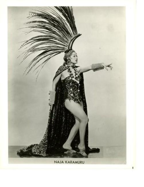 Dancer Naja Karamuru was called 'Brazil's Answer to Jayne Mansfield,'  says Eli Paul. 'Her act, considered terribly exotic at the time, often included the use of boa constrictors .'
