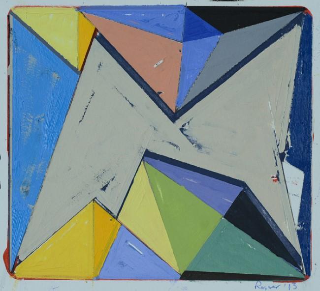 'Oil on Paper #3,' oil on paper, 2013