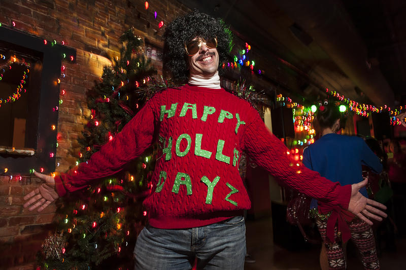 After a couple years of attending Operation Breakthrough's 10th Annual Ugly Sweater Party with uninspired holiday sweaters, Dave Fisher said he decided to kick it up a notch this year with his holiday ensemble.