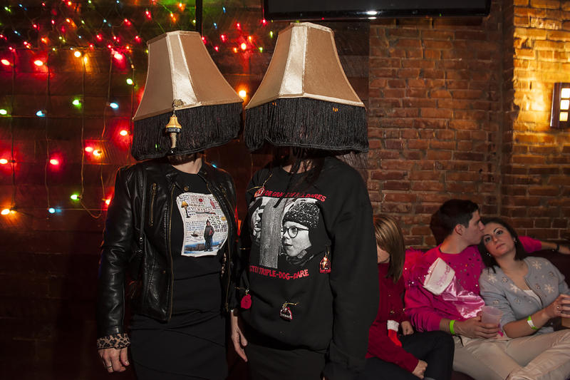 The film 'A Christmas Story' was the inspiration for Suzy Wolf and Kathy Kugler's costumes.