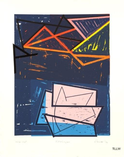 'Folded Space,' lithograph, 2014