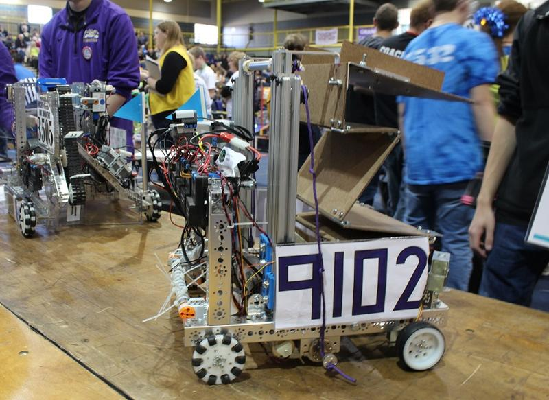 Olathe Northwest's robot up close.