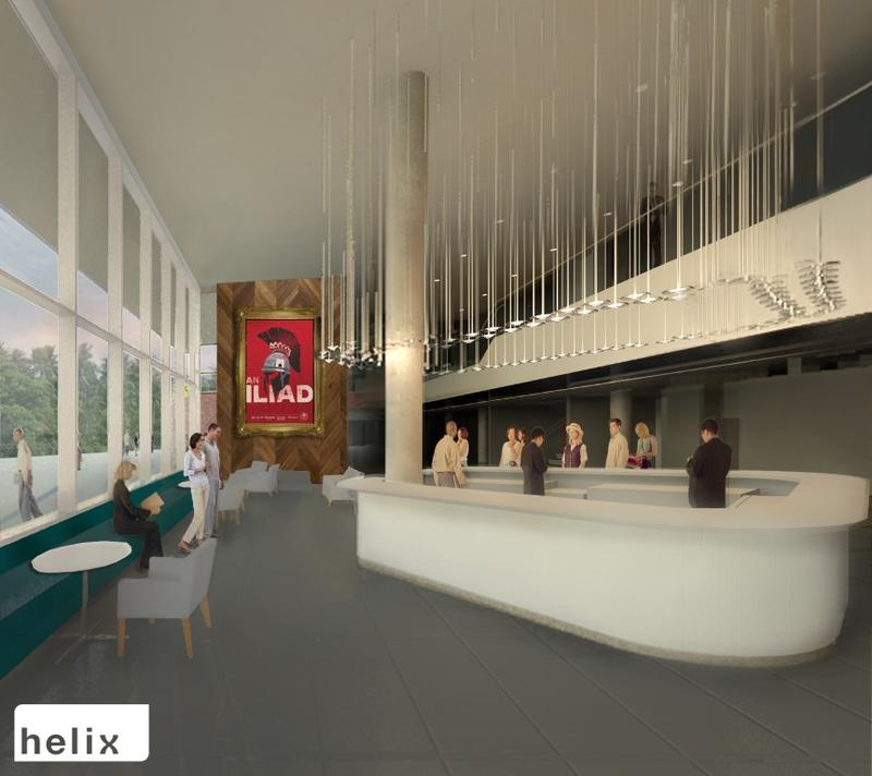 A rendering of the larger lobby.