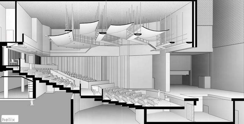 The interior of the Spencer Theatre will get new acoustical design with the renovations.
