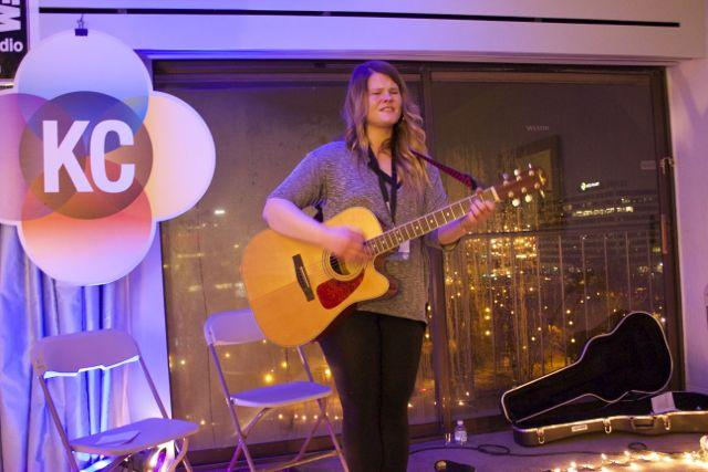 Lauren Anderson was the second-to-last performer in the Kansas City Music Collective's seventh-floor room on Sunday morning.