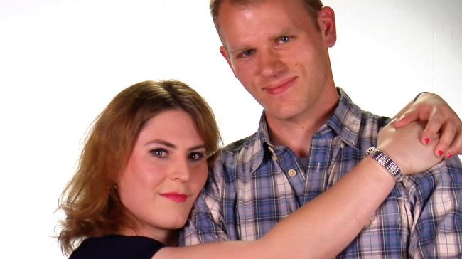 Robyn, left, and Andrew from 'New Girls On The Block'