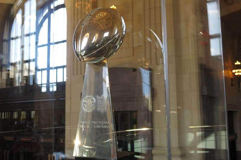 The Lombardi trophy that will be part of the Gridiron Glory exhibit.