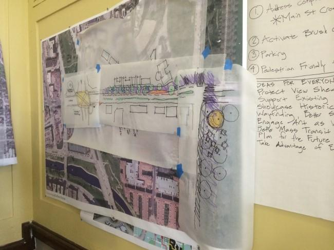 On Saturday, maps, drawings and ideas lined the walls of the Bancroft School Auditorium.