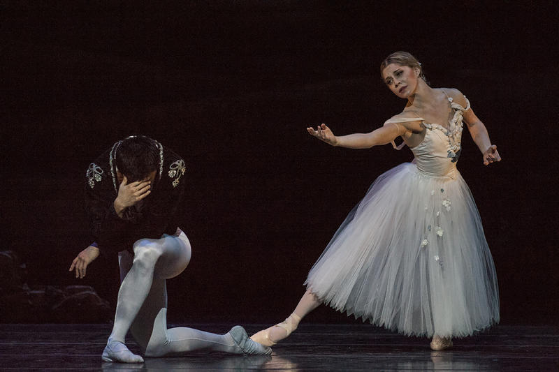 All forgiving, Giselle (Wagner) saves a guilt-stricken Albrecht (Fu) from certain death at the hands of the Wilis.