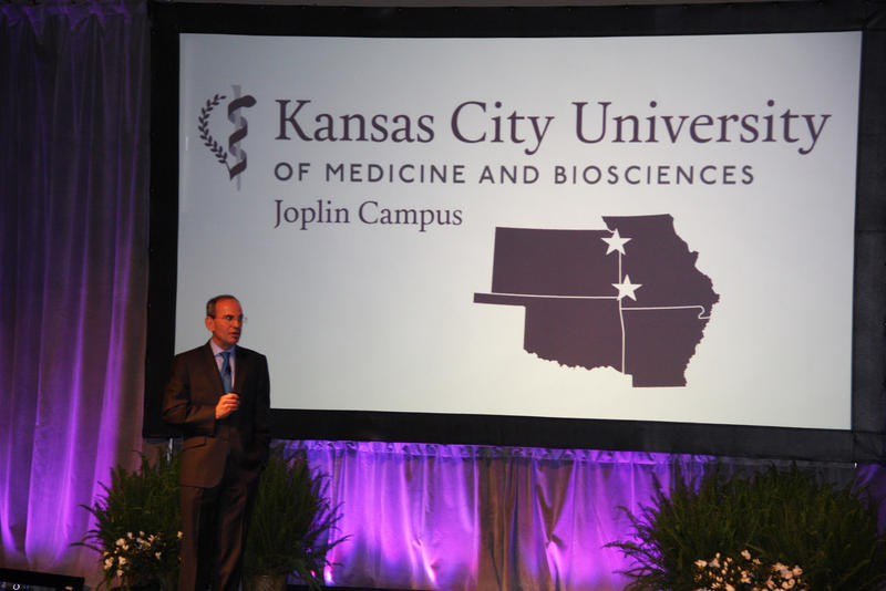 Dr. Marc Hahn, president and CEO of the Kansas City University of Medicine and Biosciences (KCU), announced plans for a new campus in Joplin, Mo., on Thursday as part of his installation as head of the medical school.