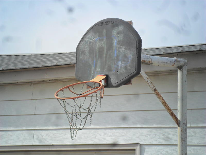 Willie Cauley-Stein played on this basketball hoop in the backyard of his grandparent's house in Spearville, Kansas.