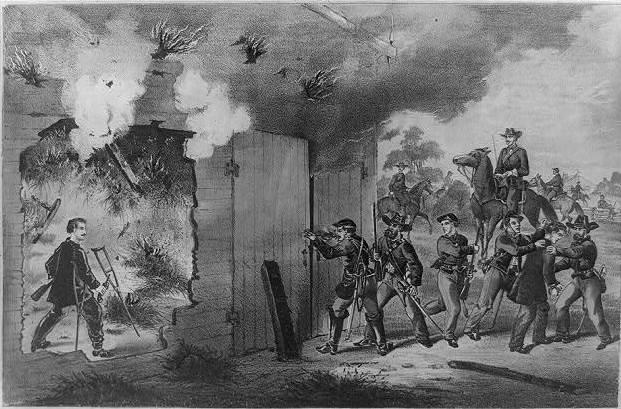 Boston Corbett killed John Wilkes Booth with a single shot from the outside of a burning tobacco barn, where Union officers were trying to smoke him out.