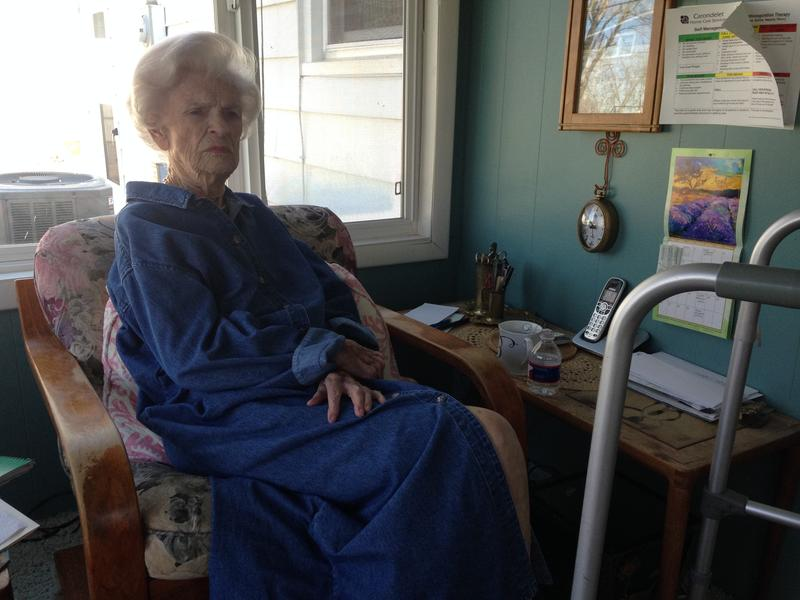 Ellen Becky Grossman, 101, has lived in the same Roeland Park home for more than six decades. Her favorite place to sit is the sunroom, where a contractor lifted the floor six inches to make access safer with her walker.