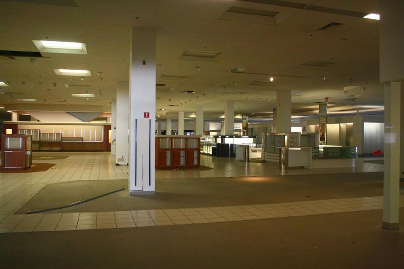 Empty interior of Macy's