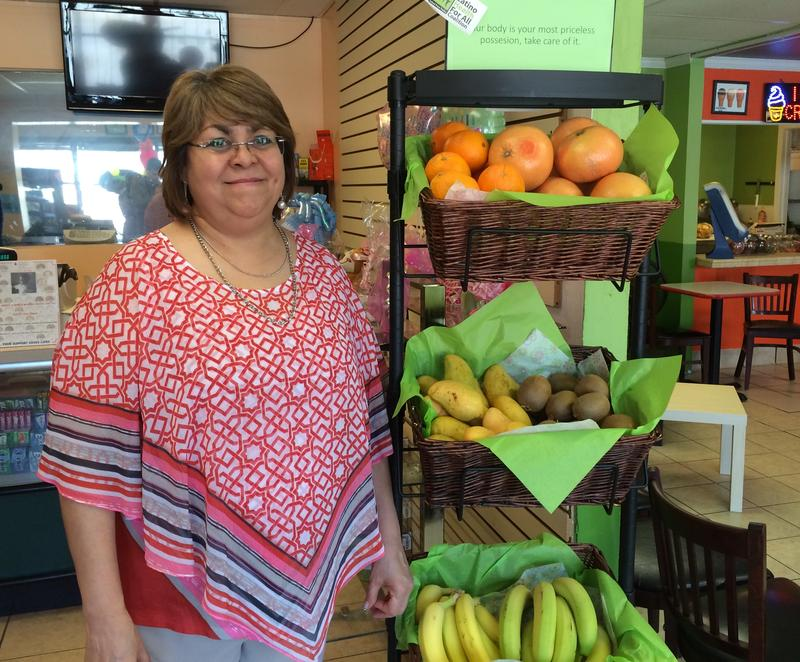 Store owner Graciela Martinez says healthier food options have been popular with her customers.