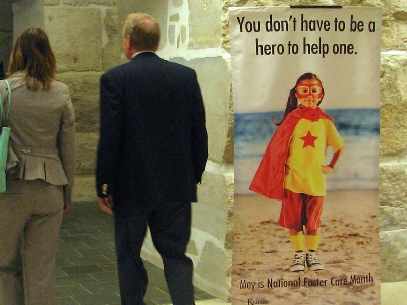The Kansas Department for Children and Families coordinated a celebration of National Foster Care Month on Tuesday at the Statehouse.