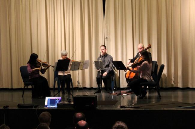 Kansas City Symphony musicians (from left): Tamamo Someya Gibbs, Mary Garcia Grant, John Klinghammer, Alexander East and Jessica Nance.