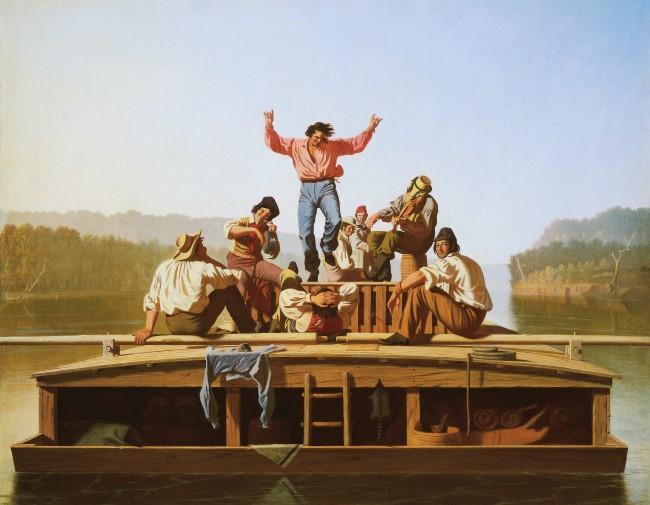 The Jolly Flatboatmen, by George Caleb Bingham, 1846