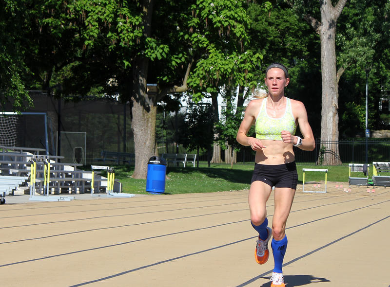 UMKC's Courtney Frerichs trains in Kansas City for the NCAA championship meet