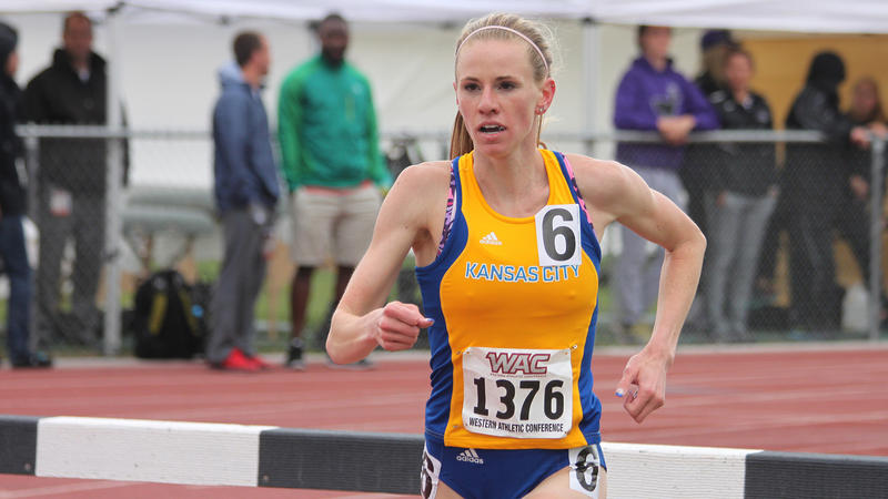 Frerichs won the 3000m Steeplechase at the conference championship meet in May.