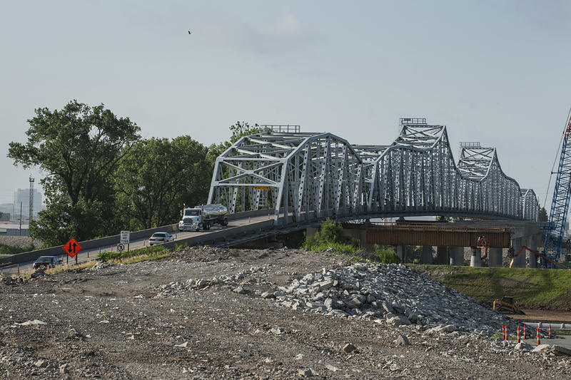 A $79 million U.S. 69 bridges project will replace the Fairfax Bridge and the Platte Purchase Bridge. The new bridge is expected to open to traffic in December 2016.