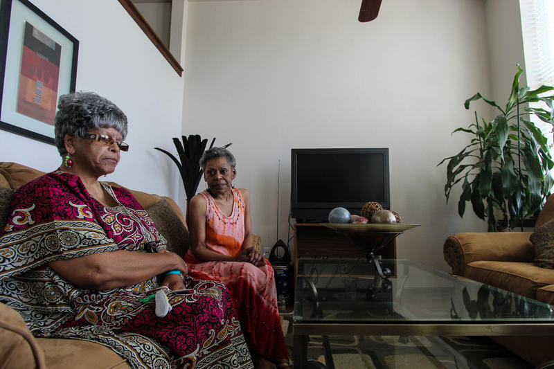 Seven Oaks residents Joan Bell and Teresa Houston have lived in Seven Oaks since it was reopened in early 2014.