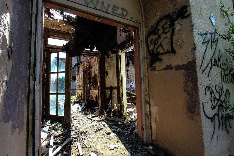 The Manchester School on 68th and Truman Road,was sold in 2010, before the dictrict's repurposing effort. The current owners failed to carryout plans for redelopment and the building has become a target for vandelism, arson and illegal dumping.