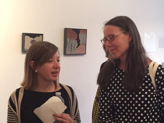 Artist Melanie Johnson (left) with one of the guest moderators, artist Adriane Herman.