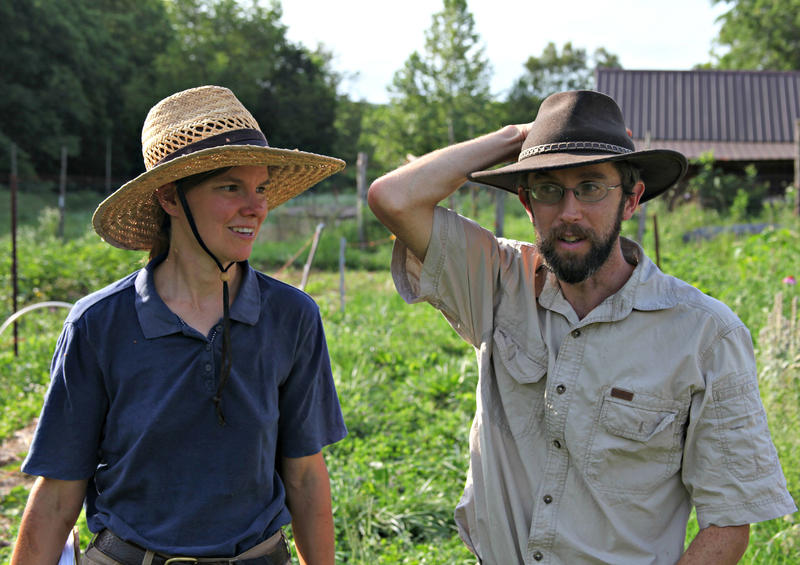 Organic farmers Joanna and Eric Reuter say their Missouri farm was contaminated with unwanted pesticides last year.