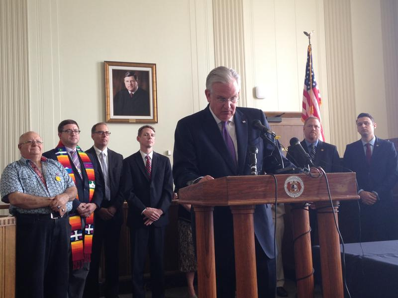 Missouri Gov. Jay Nixon signed an executive order Tuesday to ensure state agencies implement the U.S. Supreme Court decision legalizing same-sex marriage.