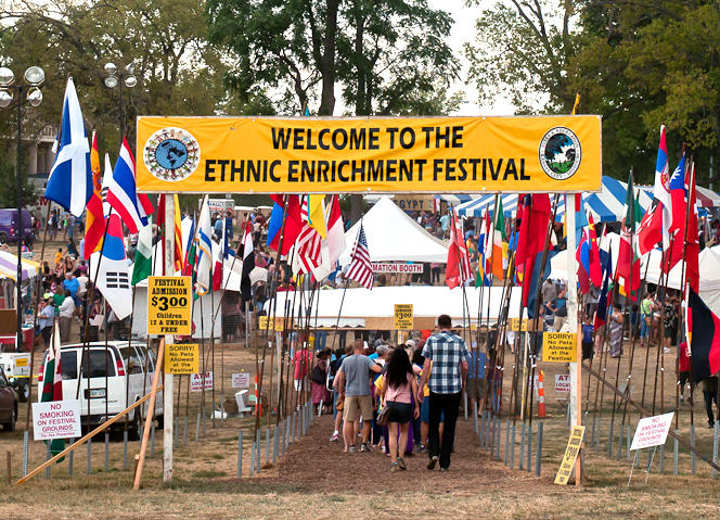 Guests entering last year's Ethnic Enrichment Festival in Swope Park. This year, the festival features food, music, art and more from over 60 different countries.