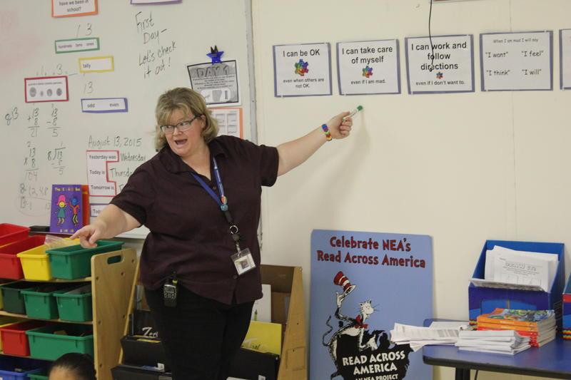 Rebeka McIntosh, a 21-year veteran, teaches at Grandview's alternative school.