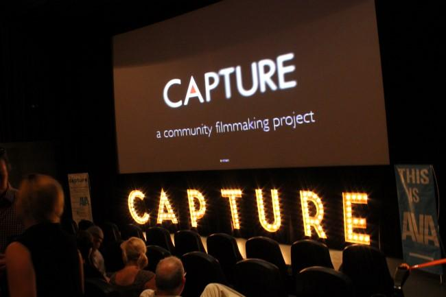 Audiences gathered to see the results of Chattanooga's 'Capture' community filmmaking project in 2014.