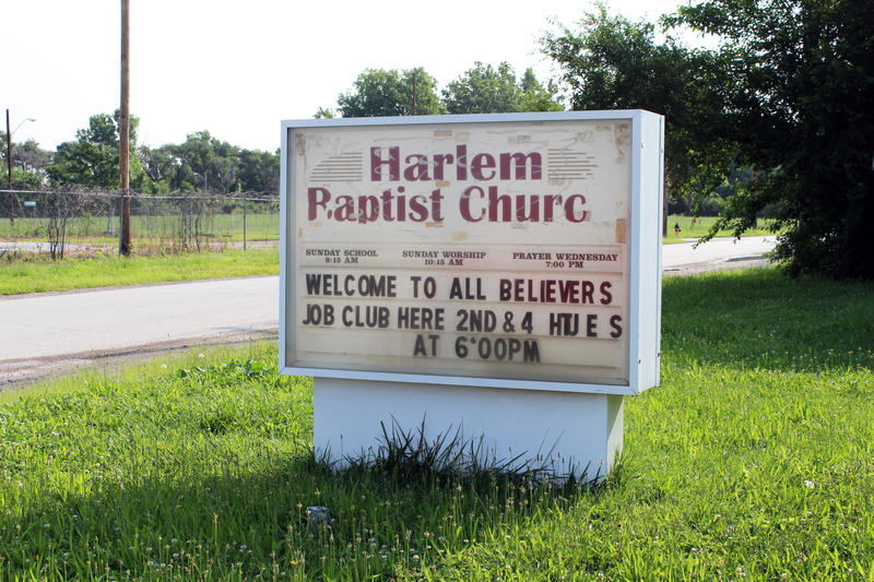 Sign for Harlem Baptist Church