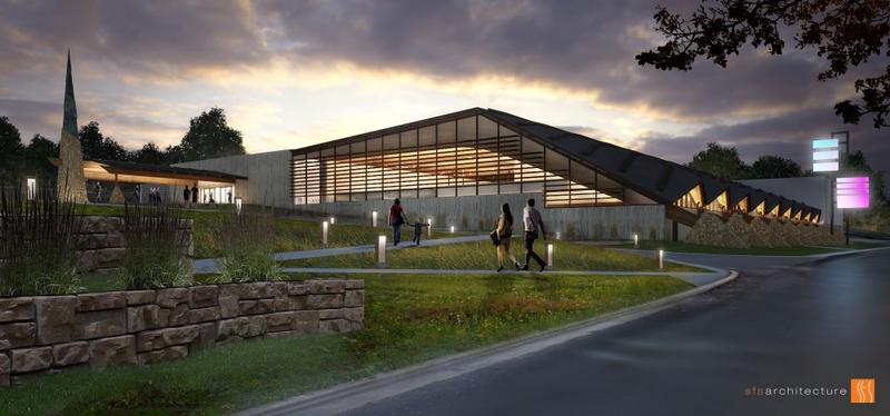 A rendering of the south side of the new Johnson County Arts and Heritage Center.