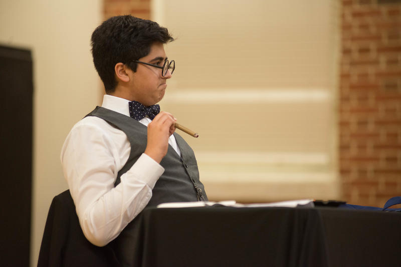 Pembroke Hill student Jay Mehta won first place for junior individual performance at the National History Day Contest for his impersonation of Winston Churchill.