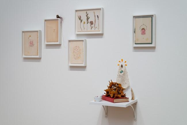 An installation view of Rodolfo Marron's work.