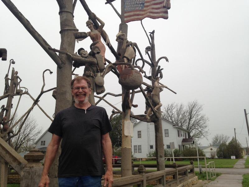 Sculptor John Hachmeister is part of the chain of being at S.P. Dinsmoor's Garden of Eden.