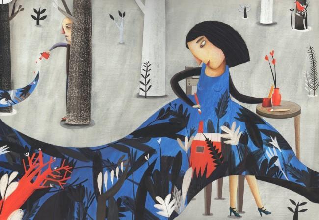 'Flower in Red (Florecer en rojo),' by Esteli Meza Urbieta of Mexico City