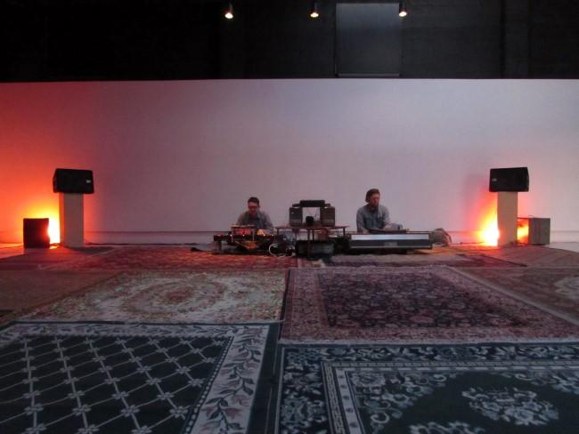 Shawn Edward Hansen and Sam Jones at the vernal equinox sleeping-bag concert.