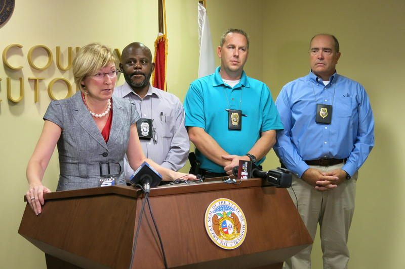 Jackson County Prosecutor Jean Peters Baker announces charges in a triple homicide in September 2015, a year after homicides in the city reached a historic low. Peters Baker is in Washington, D.C., to talk about the No Violence Alliance.