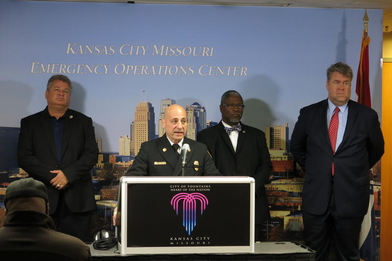 Kansas City Fire Chief Paul Berardi identified the two firefighters killed in Monday night's blaze as Larry J. Leggio and John V. Mesh.