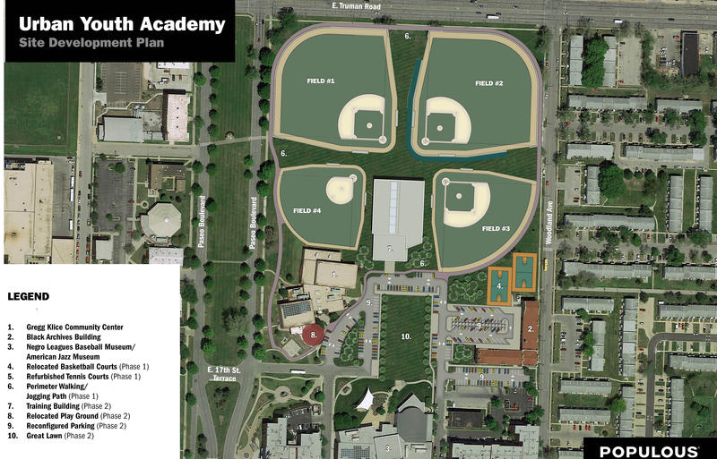The proposed baseball park will be built in two stages at Parade Park.
