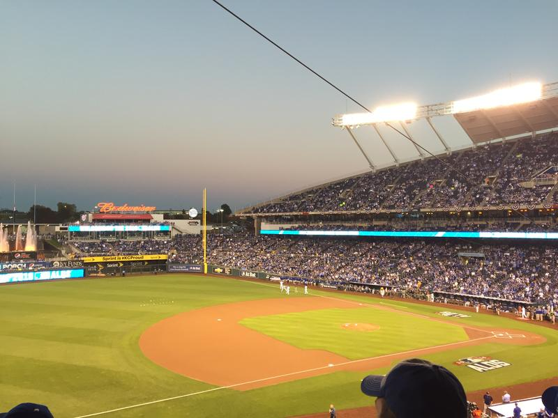 It was a packed house at Kauffman Staduim Wednesday night for Game 5 of the ALDS against the Houston Astros.